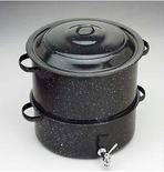 Granite Ware Clam & Lobster Steamer 19 Qt. w/Lid & Faucet ( 6316-1)