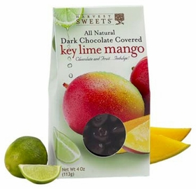 Harvest Sweets Dark Chocolate Covered Key Lime Mango 4 oz.