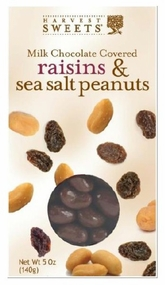 Harvest Sweets Milk Chocolate Raisins & Sea Salt Peanuts 5 oz.