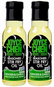 Joyce Chen Ginger & Garlic Seasoned Stir Fry Oil 8 oz. (2 Bottles)