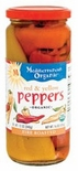 * Mediterranean Organic Fire Roasted Red & Yellow Peppers 16 oz.