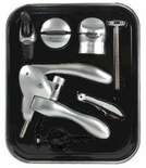 Metrokane 6 Piece Rabbit Wine Tool Kit, Silver