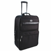 City Lights Expandable Suitcase on Wheels with Telescoping Handle NY900-BK