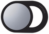 Cricket Oval Styling Mirror Black 5516874