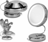 Danielle 10X Magnification Chrome Fold Away Lit Vanity Mirror D111A