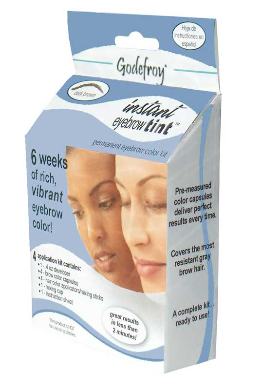 Instant Eyebrow Tint Color Weeks Medium Brown by godefroy #11