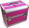 Hairart Pink Aluminum Beauty Case With Trays & Strap 79161PI