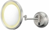 Kimball & Young 5X Brushed Nickel Single Sided LED Round Wall Mirror 92475HW