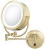 Kimball & Young 5X To 1X Brushed Brass NeoModern LED Lighted Mirror 925135