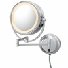 Kimball & Young 5X To 1X Brushed Nickel NeoModern LED Lighted Mirror 92575