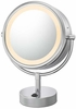 Kimball & Young 5X To 1X Italian Bronze NeoModern LED Lighted Mirror 72515