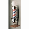 "Marvy Barber Pole 4"" On Stand Two Light Model 410 BP410ORTL"