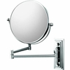 Mirror Image 5X To 1X Chrome Classic Double Arm Wall Mirror 20845