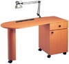 Pibbs Laminated Angle Top Nail Center Table With Lamp & Pad PN1021