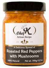 Chef K Roasted Red Pepper Spread w/ Mushrooms