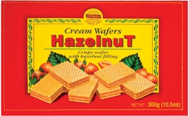 Evropa Hazelnut Wafers - Case of 12 Boxes