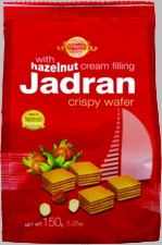 EVROPA Jadran Hazelnut Wafers - Case of 12