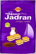 EVROPA Jadran Milk & Cocoa Wafers - Case of 12 Bags