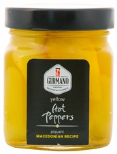 <font color=red><b>NEW!!!</font></b> GURMANO Yellow HOT Peppers 270g (9.5oz)