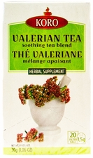 Koro Valerian Tea - Case of 12 Boxes
