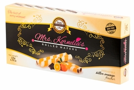 <font color=red><b><i>NEW!!!</font></b></i> Mrs. Kornelia's Rolled Wafers - Bitter Orange - Case of 12 Boxes