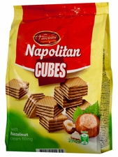 Napolitan Cubes - Hazelnut - Case of 12 Bags