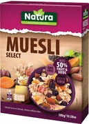 Natura Muesli Select with 50% Fruit & Seeds - Case of 8 Boxes