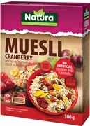 Natura Muesli with Cranberry - Case of 8 Boxes