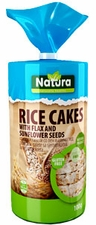 Natural Rice Cakes with Flax & Sunflower Seeds - Case of 12 Bags