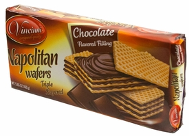 Vincinni Napolitan Triple Layer Chocolate Wafers - Case of 20 Packs