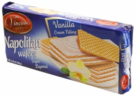 Vincinni Napolitan Triple Layer Vanilla Wafers - Case of 20 Packs