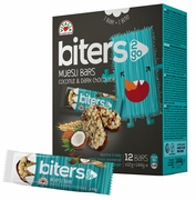 Vitalia Biters2Go Coconut & Dark Chocolate Granola Bars - Case of 9 Boxes