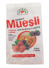 Vitalia Crunchy Muesli - Blackberry & Raspberry - Case of 12