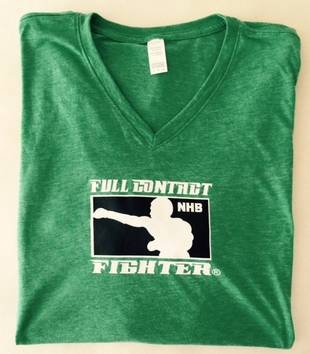 FCF V-NECK  STYLE HEATHER GREEN T-SHIRT