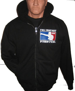 Men's Sherpa Lined Zipper Hoody - Black/Black