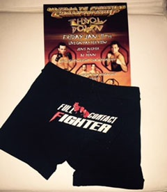 UFC LIGHTWEIGHT CHAMPIONSHIP SHORTS WORN BY JENS PULVER