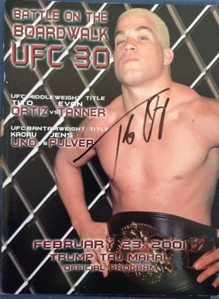 UFC/SEG SIGNED PROGRAM RARE
