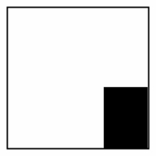 12x12 Poly Black/White Griff  OH20