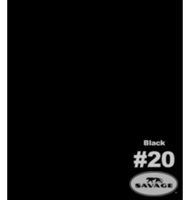 "20  Black Savage Seamless Paper 107""x12yds"