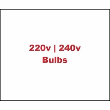 220V / 240V Tungsten (3200K) Bulbs
