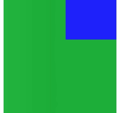 Advantage 6'x6' ChromaTex Chroma Key Green / Blue  Screen