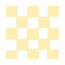 American 8x8 Checkerboard Gold / Silver Lisa Marie BF158