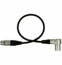 Audio Cable Right Angle XLR Male to XLR Female 1.5ft.