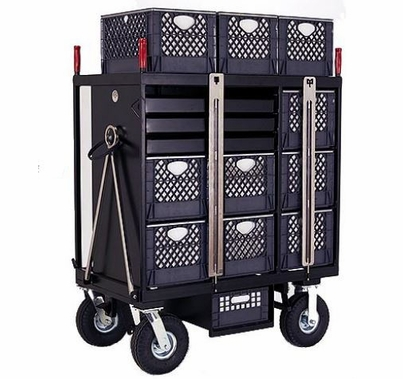 BackStage Equipment 7-Crate Set Box Cart