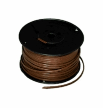 Brown Zip Cord 18/2 250ft Spool Electrical Lamp Cable