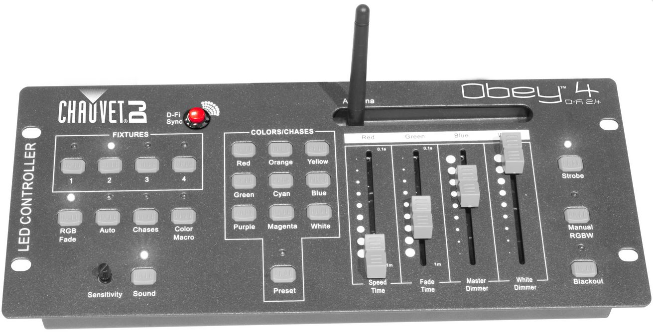 chauvet obey 4 d fi 2 4ghz wireless control console barndoor lighting. Black Bedroom Furniture Sets. Home Design Ideas