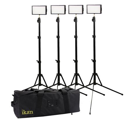 Ikan Standard Interview Led Light Kit 4 Iled312 Barndoor