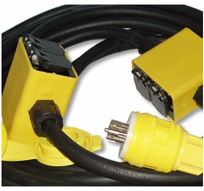 Lex GFCI 3 Phase 20A Quad String Extension Cable