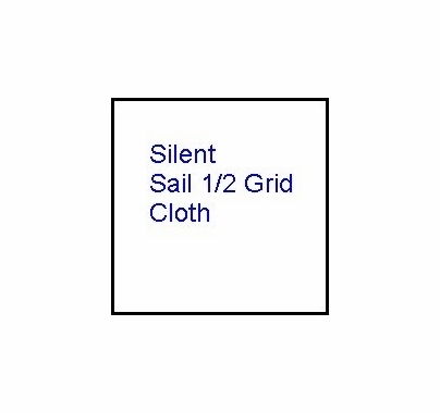 Modern Studio 12 x 12 Silent Sail / Half Grid Cloth w/ Bag