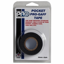"ProTape Pocket Pro Gaff Tape 1"" x 6yds - BLACK"